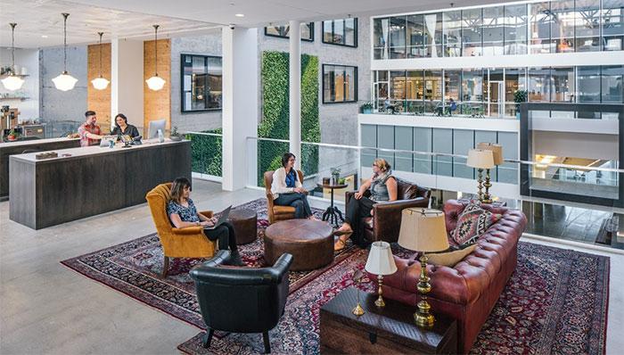 Vista de la oficina de Airbnb en San Francisco