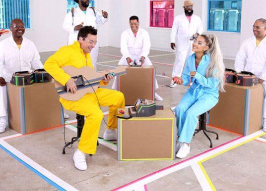 Ariana Grande interpreta 'No Tears Left to Cry' con instrumentos de Nintendo Labo