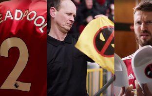 Deadpool visitó Old Trafford y se apoderó del Manchester United