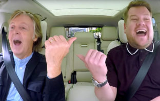Paul McCartney hace historia en el 'Carpool Karaoke' de James Corden