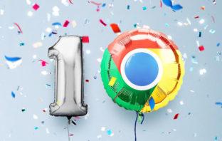 Google Chrome celebra su décimo aniversario con un nuevo diseño