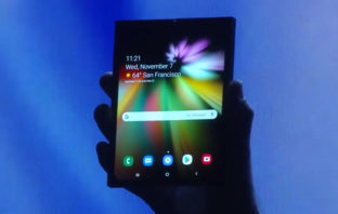 Samsung presentó su primer smartphone con pantalla plegable