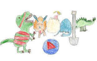 Niña de 7 años gana concurso anual de Doodle By Google