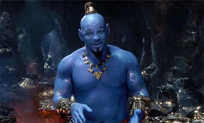 Will Smith hace su debut como el Genio en el nuevo tráiler de 'Aladdin'