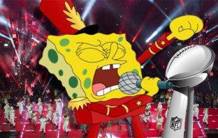 Bob Esponja estuvo en el show de medio tiempo del Super Bowl, pero…