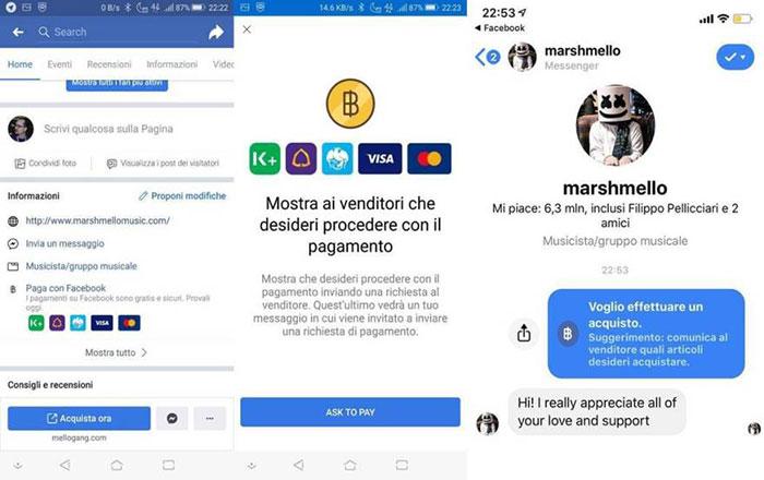 Ya es posible pagar a través de Facebook en iOS y Android