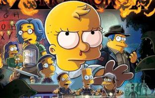 'Los Simpson' parodian a 'Stranger Things' en póster de su especial de Halloween