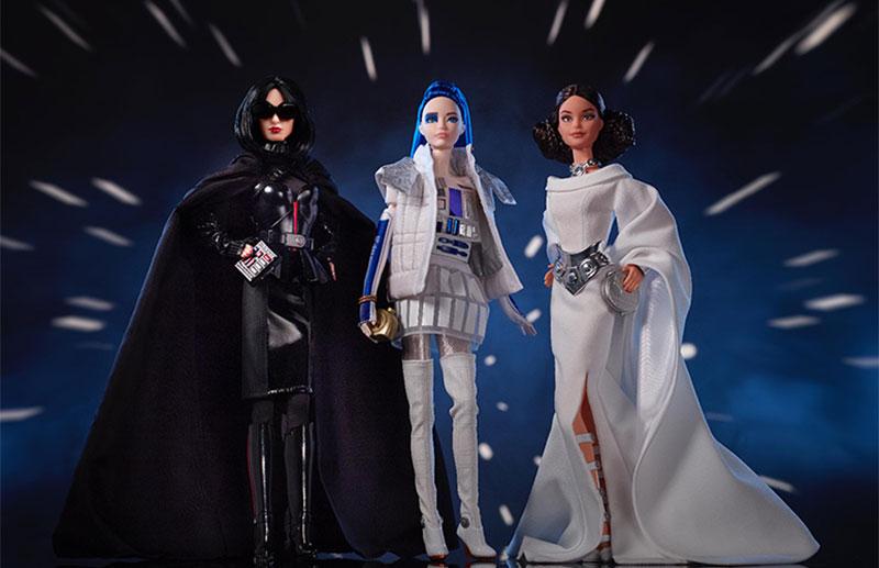 Barbie lanza una colección de muñecas inspiradas en 'Star Wars'
