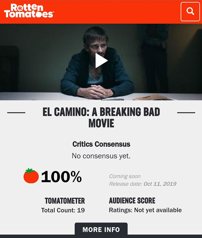 'El Camino: Una película de Breaking Bad' se alza como una de las mejores cintas de 2019