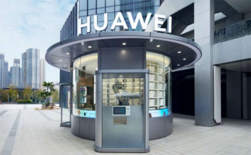 Coronavirus: Huawei inaugura tienda atendida solo por robots